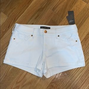 White Low Rise Shorts